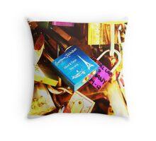 Paris - Pont des Arts Throw Pillow