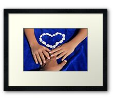 Love - Macro Photography Framed Print