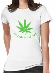 100% VEGAN Womens Fitted T-Shirt