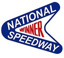 New York National Speedway Winner Drag Strip by birchbrook