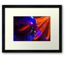 Party Disco Ball Framed Print