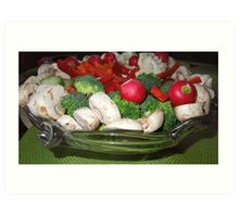 Veggies for the Super Bowl Party..... Art Print