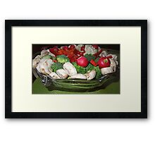 Veggies for the Super Bowl Party..... Framed Print