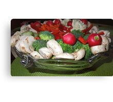 Veggies for the Super Bowl Party..... Canvas Print