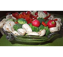 Veggies for the Super Bowl Party..... Photographic Print