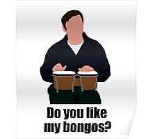 Sheldon Cooper Playing Bongos (with quote) - Minimalist design Poster
