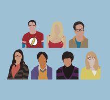The Big Bang Theory Cast - Minimalist design Kids Clothes