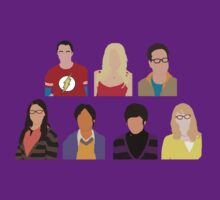 The Big Bang Theory Cast - Minimalist design by mashuma3130