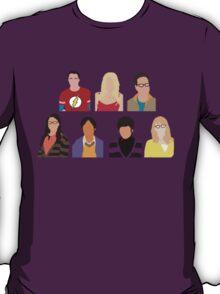 The Big Bang Theory Cast - Minimalist design T-Shirt