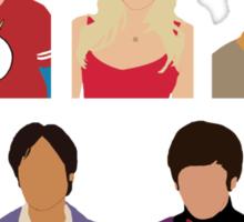The Big Bang Theory Cast - Minimalist design Sticker