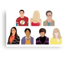The Big Bang Theory Cast - Minimalist design Metal Print