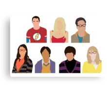 The Big Bang Theory Cast - Minimalist design Canvas Print