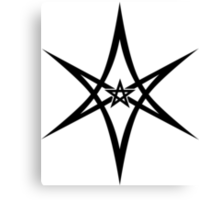 Unicursal Hexagram, Pentagram, Star Canvas Print