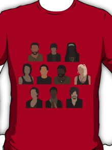 The Walking Dead Cast - Minimalist style T-Shirt