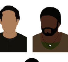 The Walking Dead Cast - Minimalist style Sticker