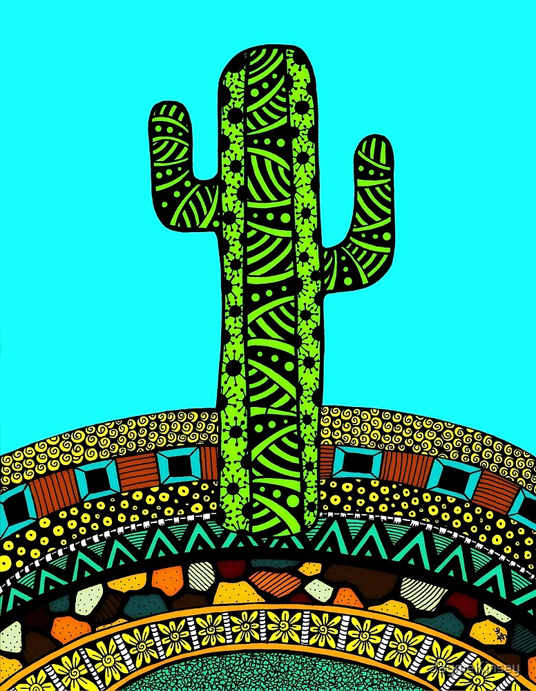 Jewel of the Desert (Cactus Doodle) by JaymeKinsey