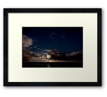 Supermoon over the Pacific Ocean Framed Print
