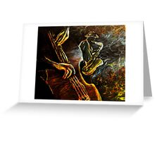 Jazz night Greeting Card