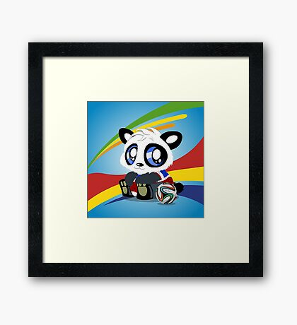 World Cup Panda 2014 Framed Print
