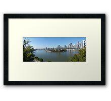 Brisbane panorama Framed Print