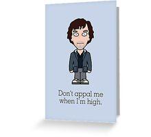 Scruffy Sherlock (card) Greeting Card