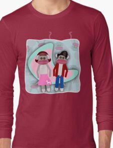 Sock Hoppin Sock Monkeys 2 Long Sleeve T-Shirt