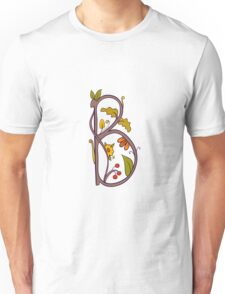 Natural alphabet  - letter B Unisex T-Shirt