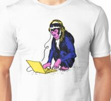 Monkeying at Laptop Unisex T-Shirt