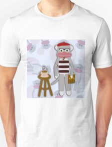 Hipster Beatnik Sock Monkey T-Shirt