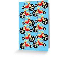 Big Wheel Pattern Greeting Card