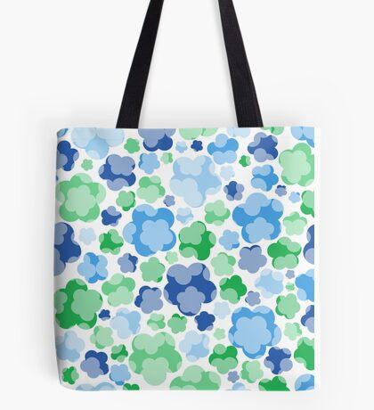 tender blue floral pattern Tote Bag