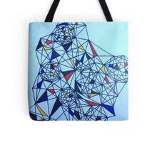 Geometric Drawing in Primary Colors; Mondrian-inspired Tote Bag