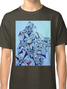 Geometric Drawing in Primary Colors; Mondrian-inspired Classic T-Shirt