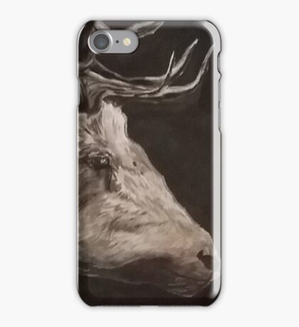 B+W Deer Portrait iPhone Case/Skin