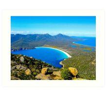 Wineglass Bay, Tasmania, Australia Art Print