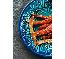 Red Hot Chili Peppers in Authentic Ceramic Bowl Photographic Print