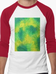 Geometric Lemon Lime Oil Pastel Etching Men's Baseball ¾ T-Shirt