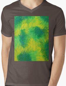Geometric Lemon Lime Oil Pastel Etching Mens V-Neck T-Shirt