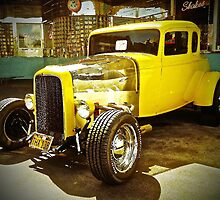 Vintage Yellow Model T Ford by Saundra Myles