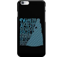 Mistress of My Own Actions (dark) iPhone Case/Skin