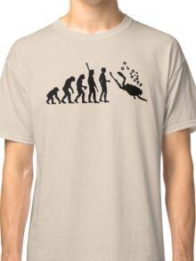 Evolution Of Scuba Diving Black Funny Classic T-Shirt