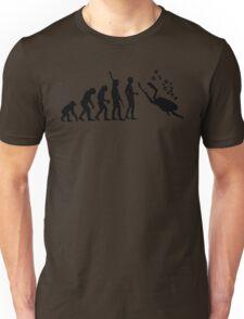 Evolution Of Scuba Diving Black Funny Unisex T-Shirt