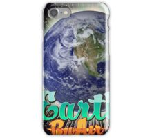 Earth By Air Vintage flight poster  iPhone Case/Skin
