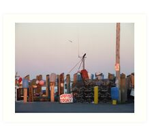 Galiee, rhode island dock Art Print