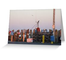 Galiee, rhode island dock Greeting Card