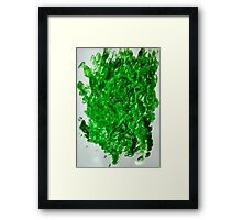 green leafs Framed Print