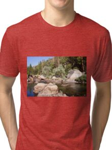 Half Dome rock at Yosemite national Park,  Tri-blend T-Shirt