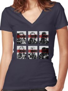The Patriots (MGS4 SPOILERS) Women's Fitted V-Neck T-Shirt