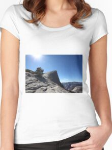 Falls trail Yosemite national Park,  Women's Fitted Scoop T-Shirt