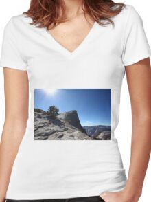 Falls trail Yosemite national Park,  Women's Fitted V-Neck T-Shirt
